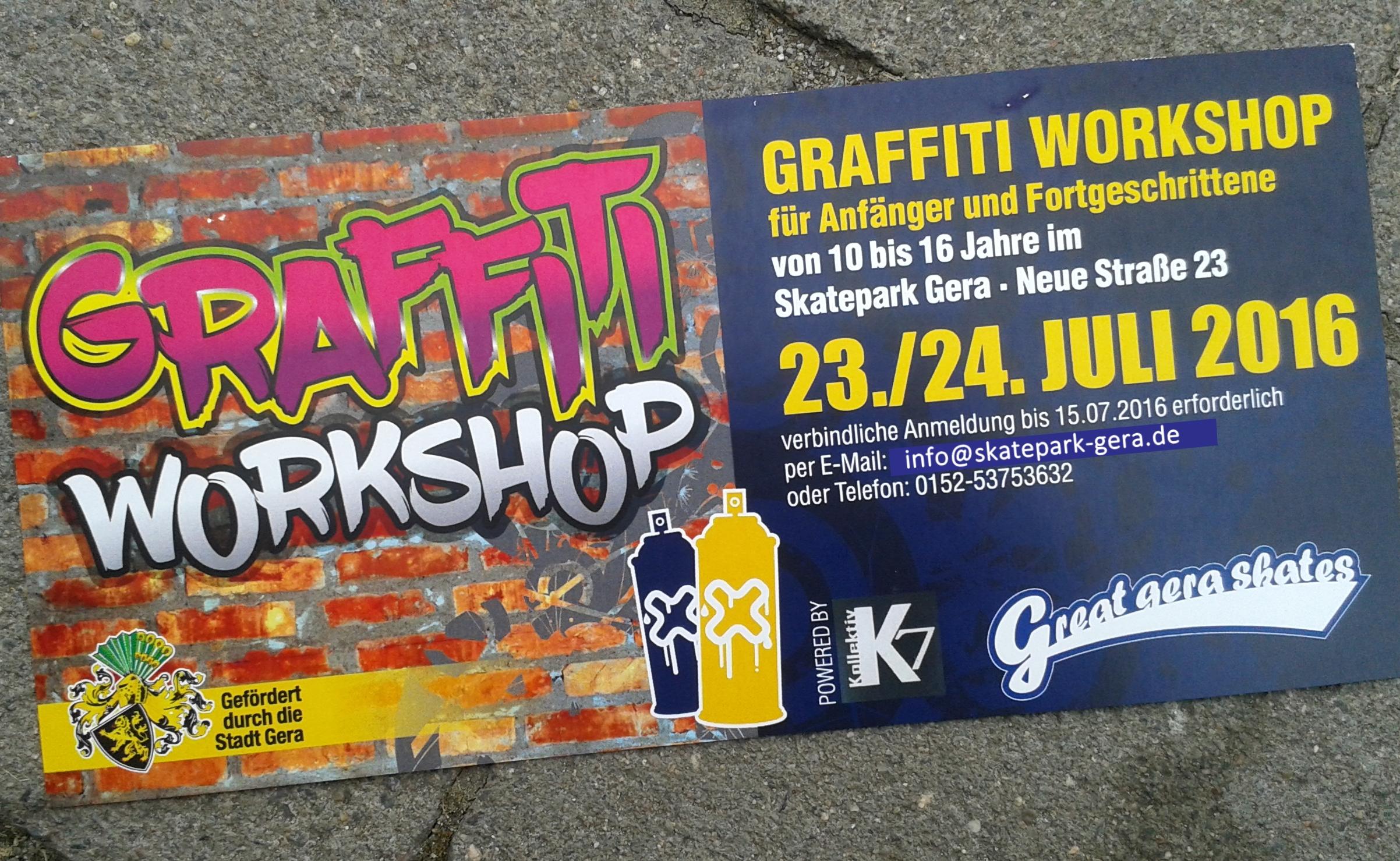 Flyer Graffiti WS im Skatepark